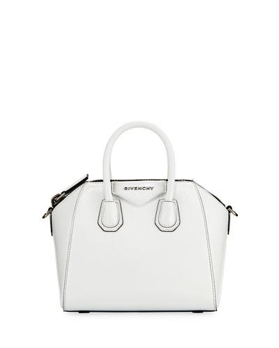 Antigona Mini Deerskin Satchel Bag