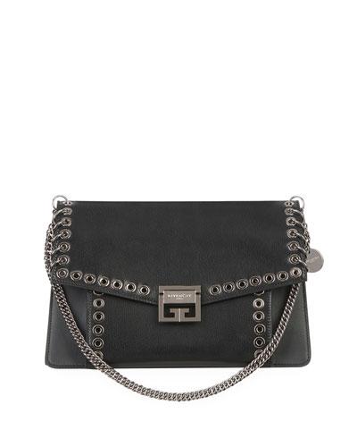 GV3 Medium Leather Satchel Bag