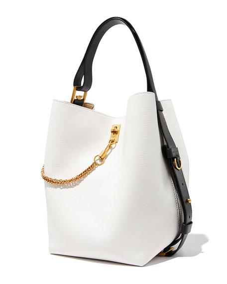 GV Medium Leather Bucket Bag