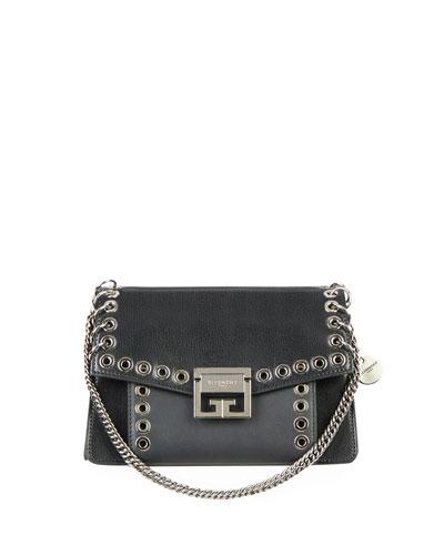 GV3 Small Goatskin Leather Grommet Satchel Bag