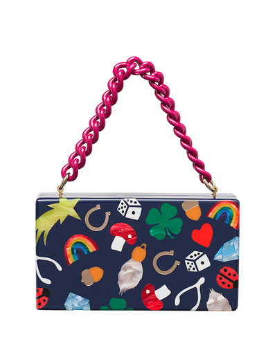 Jean Lucky Charms Clutch Bag