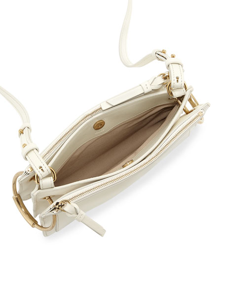 e7ab80bd7660 Chloe Roy Mini Leather Suede Double-Zip Shoulder Bag