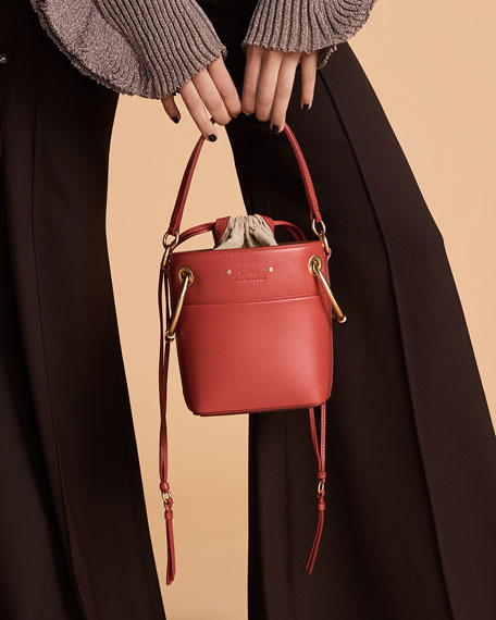 Roy Mini Smooth Leather Bucket Bag