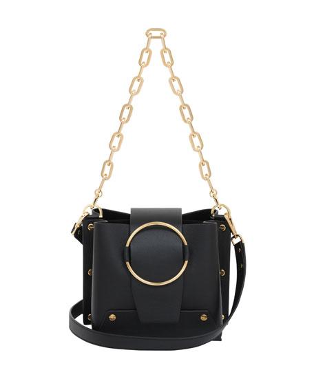 Delila Leather Ring Bucket Bag