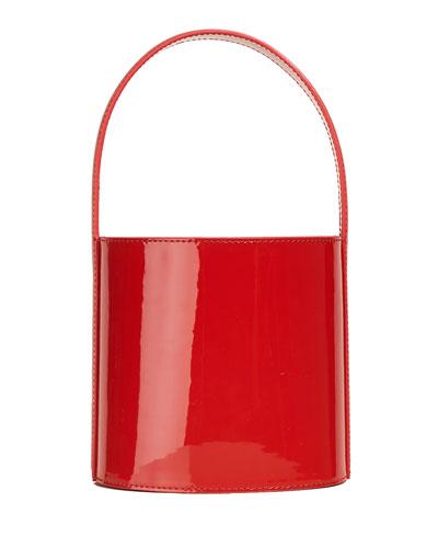Bisset Patent Leather Bucket Bag, Red
