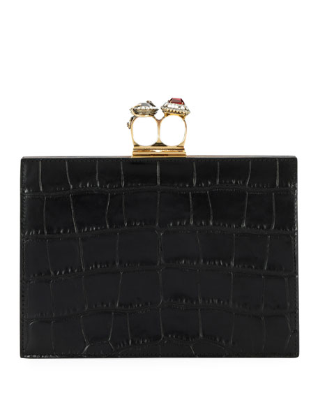 Cheap Really Alexander McQueen double ring crocodile clutch Discount 2018 Unisex Shop Your Own dTG3r