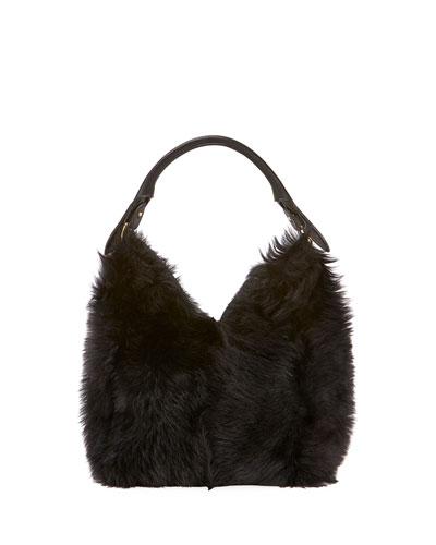 Build A Bag Small Shearling Hobo Bag