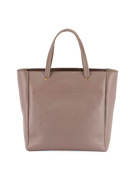 Nevis Smooth Tote Bag in Porcini Circus