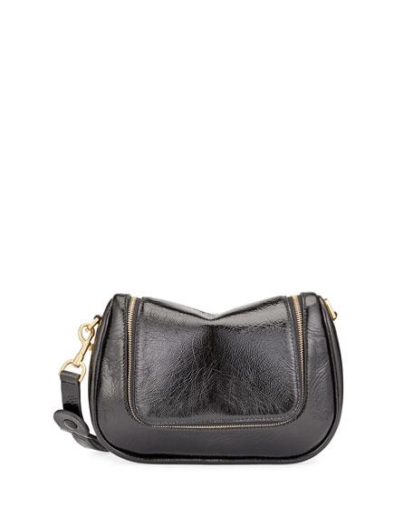 Vere Small Soft Satchel Bag, Black