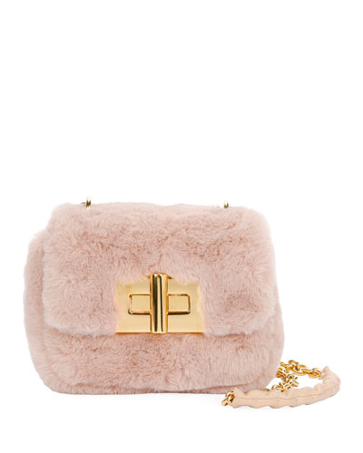 Natalia Mini Soft Faux-Fur Shoulder Bag