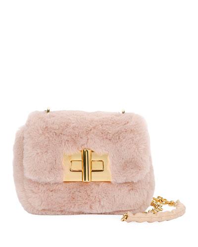Natalia Mini Soft Faux-Fur Shoulder Bag