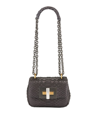 Natalia Mini Python Shoulder Bag