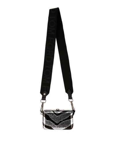 Zebra Sequins Evening Pouch Bag