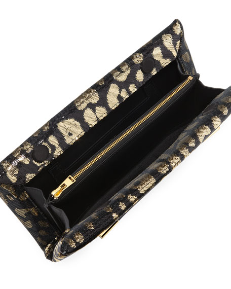 Ava Sequin Jaguar Clutch Bag