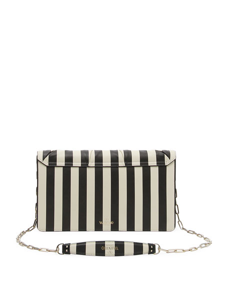 V.Stripes Bow Clutch Bag