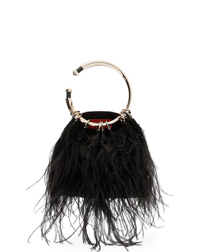 Bebop Loop Feather Clutch Bag