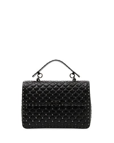 Rockstud Spike Maxi Lamb Leather Shoulder Bag
