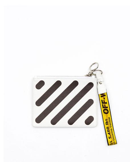 Diagonal Double Flat Clutch Bag
