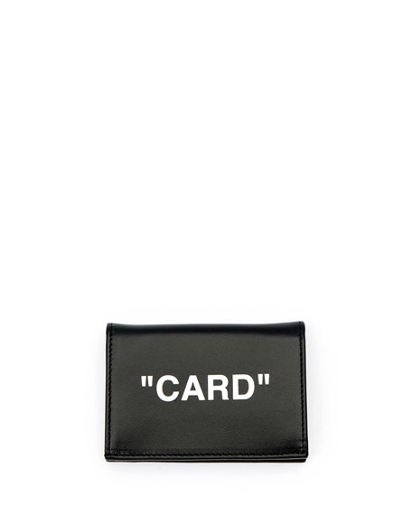 Quote Small Flap Card Case