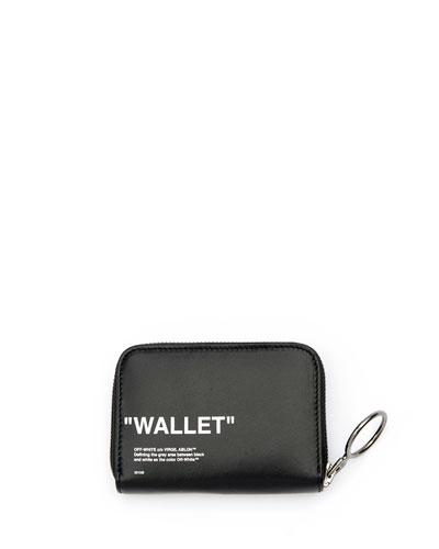 Quote Medium Grained Zip Wallet