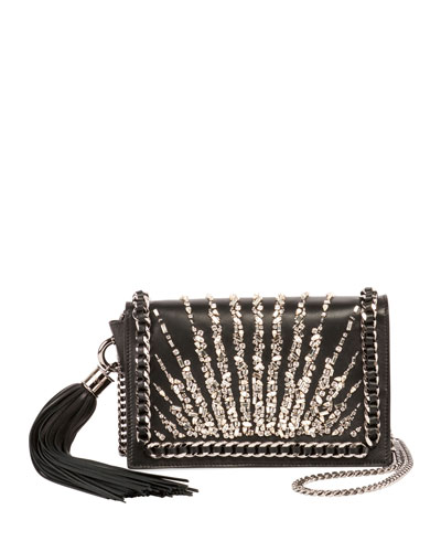 Embellished Stripes Broderie Pochette