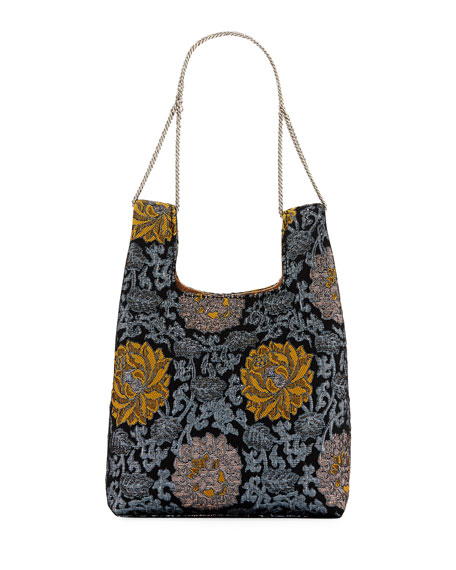 Mini Shopper On A Chain Brocade Tote Bag