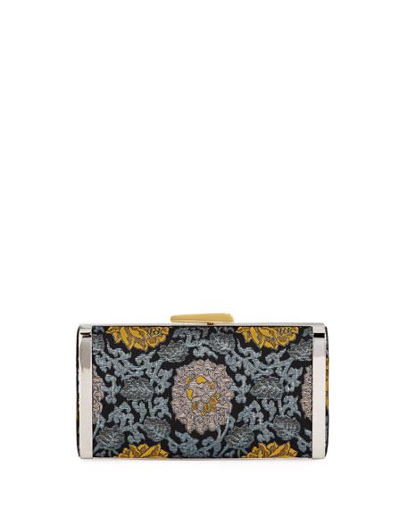 Long Box Brocade Clutch Bag
