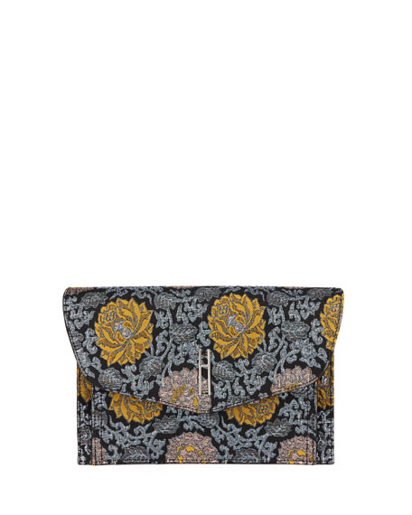 HAYWARD BOBBY BROCADE FLORAL CLUTCH BAG