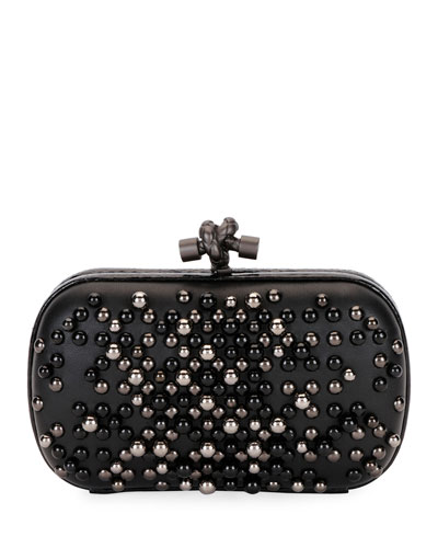 Pearly Chain Knot Clutch Bag