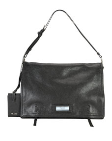f6c5a335df69 Prada Etiquette Large Glace Calf Leather Shoulder Bag