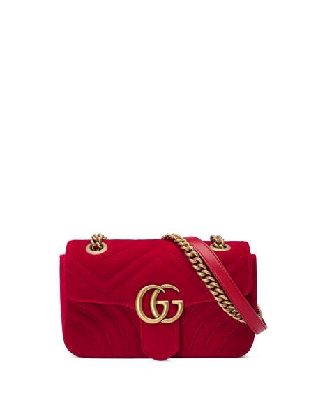 d141b0e72a28 Gucci GG Marmont Mini Velvet Shoulder Bag