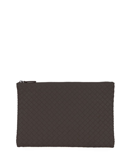 Bottega Veneta Medium Intrecciato Zip Pouch Bag