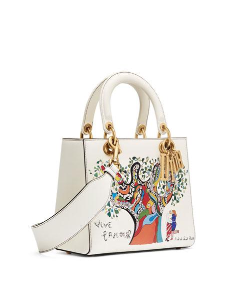 Lady Dior Bag with Textured Niki de Saint Phalle Print