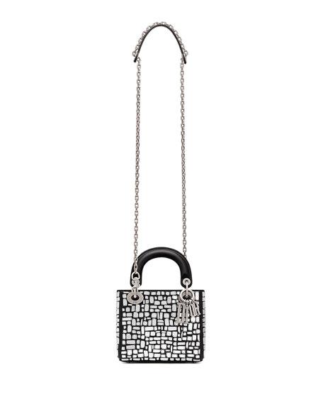 ef58fec2395b Dior Mini Lady Dior Bag with Mirror Mosiac Calfskin