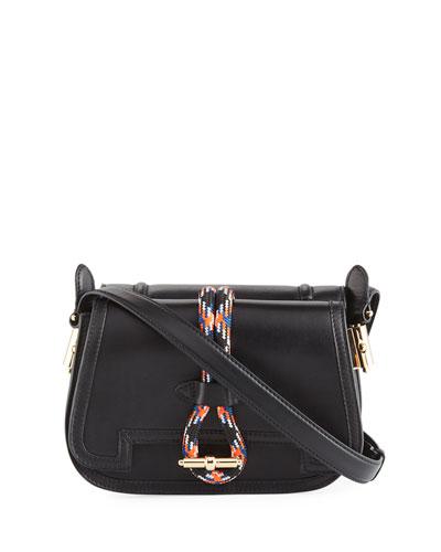 Leather Rope Saddle Bag
