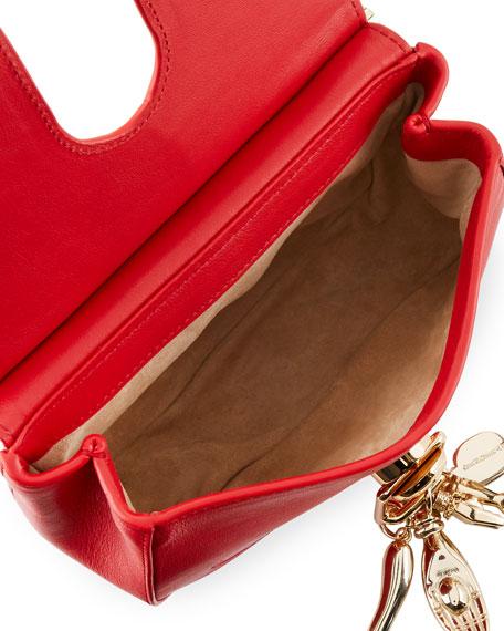 Leather Charm Saddle Bag