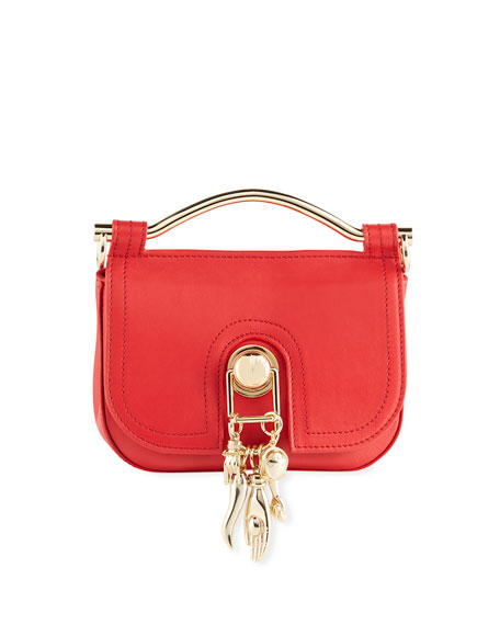 Pepper Red Leather Misti Crossbody Bag