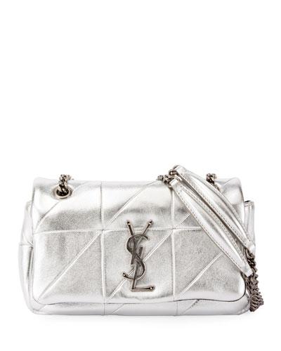 Small Metallic Flap Shoulder Bag
