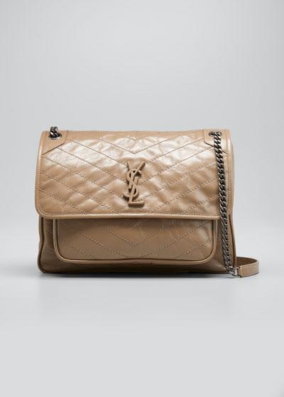 Niki Monogram Large Flap Shoulder Bag