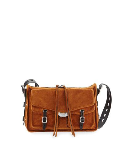 Field Suede Crossbody Messenger Bag