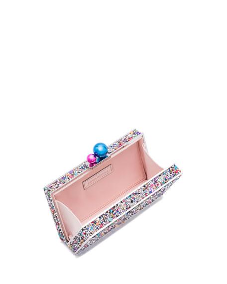 Clara Rainbow Crystal Box Clutch Bag