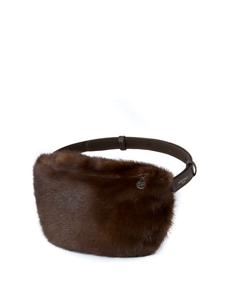 Furrissima Mars Mink Fur Fanny Pack/Belt Bag