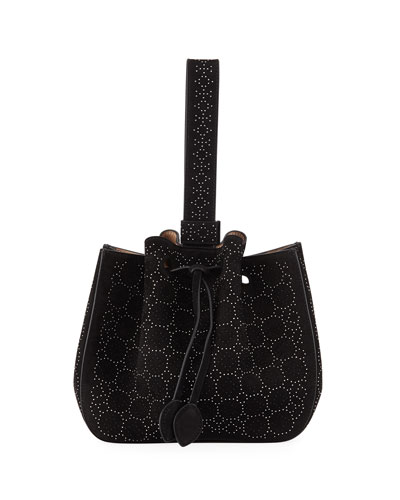 Rose-Marie Studded Small Bucket Bag