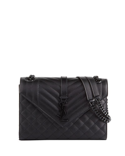 eb5c1ec772d V Flap Monogram YSL Medium Tri-Quilt Envelope Shoulder Bag w  Tonal  Hardware Quick Look. Saint Laurent