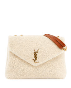 cb86c2b42fee Saint Laurent Lou Lou Medium Shearling Shoulder Bag
