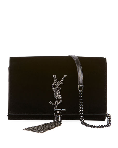 Saint Laurent Kate Toy Small Crystal-Monogram YSL Tassel