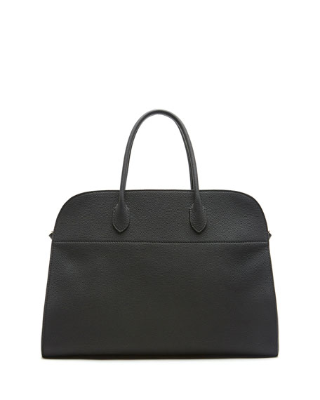Margaux 17 Calfskin Top Handle Bag, Black