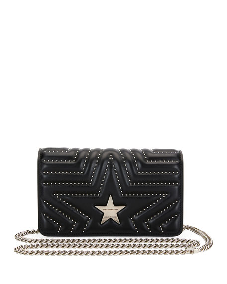 0837f3347cf6 Stella McCartney Stella Star Small Studded Alter Napa Shoulder Bag
