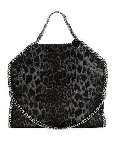 Falabella 3-Chain Leopard Tote Bag