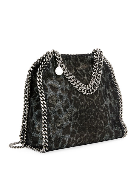 Mini Leopard Falabella Tote Bag
